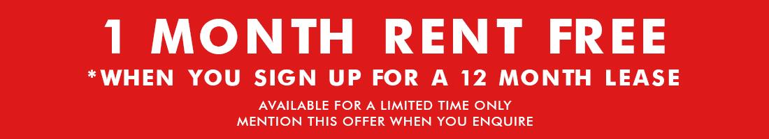 1mth rent free banner